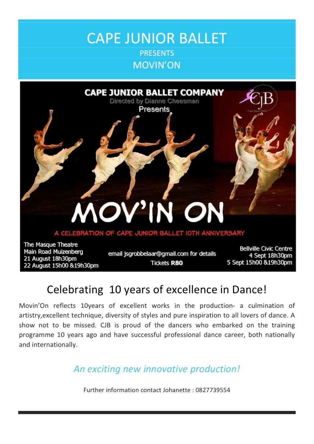 Mov'in On 2015 by Cape Junior Ballet